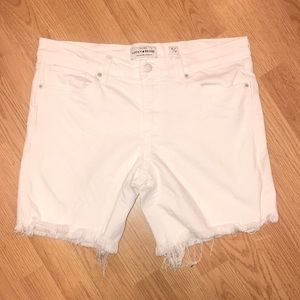 Lucky Brand The Roll Up White Cutoff Jean Shorts